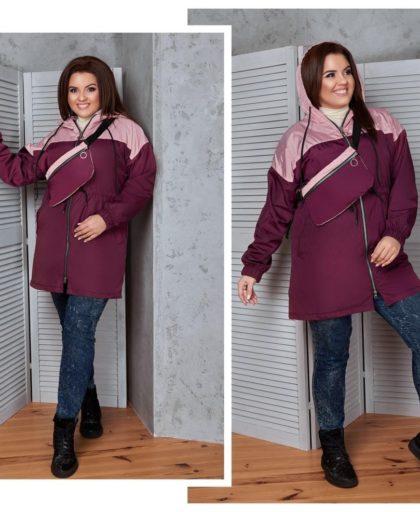 Демисезонная куртка с клатчем
