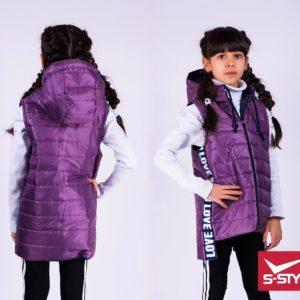 длинная жилетка для девочек