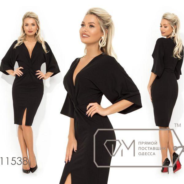 Платье с глубоким V образным вырезом