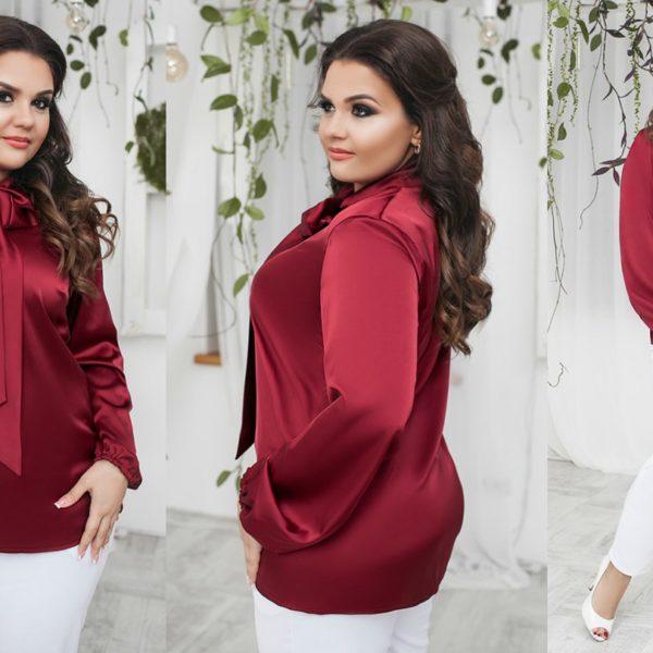 бордовая блузка на полных