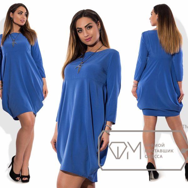 синее платье на полных