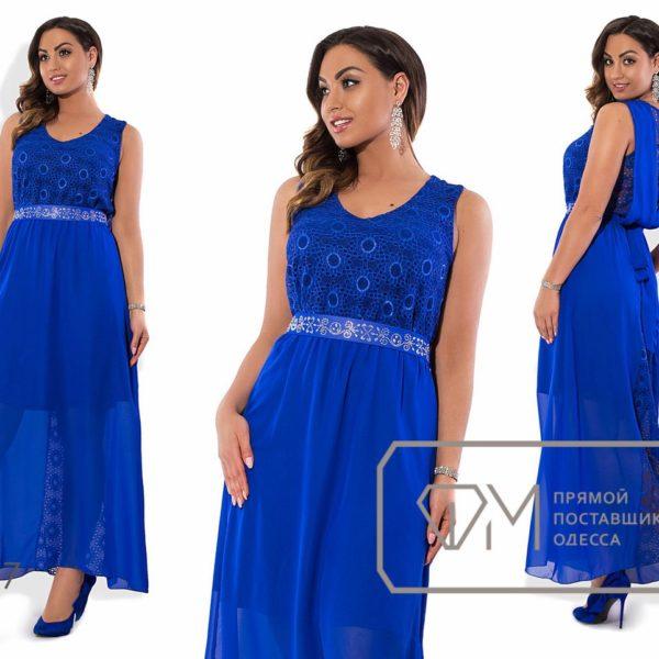 синее платье для вечера