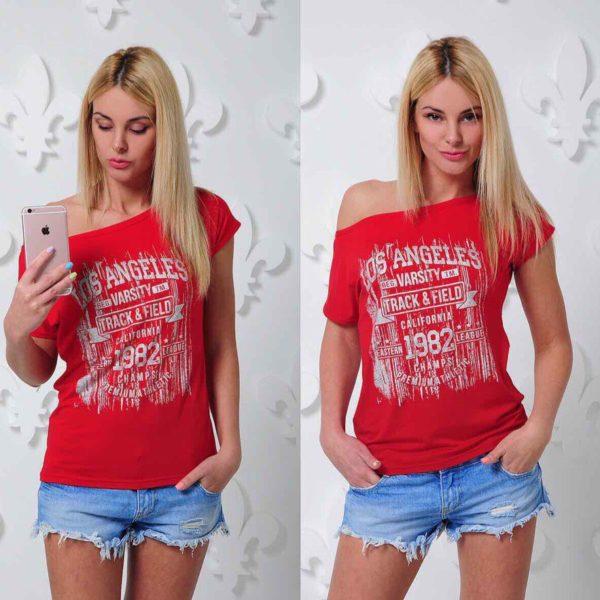 футболка модная женская