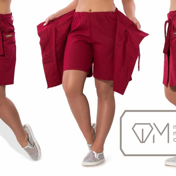 бордовые шорты