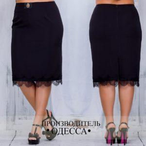 черная юбка с кружевами