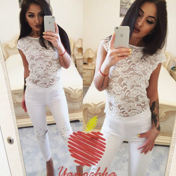 белая блузка гипюр