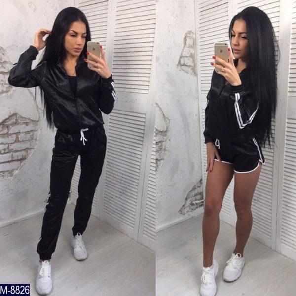 атласные черные брюки