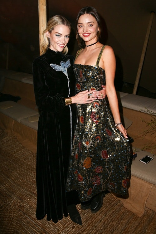 миранда керр и джейми кинг на показе Christian Dior
