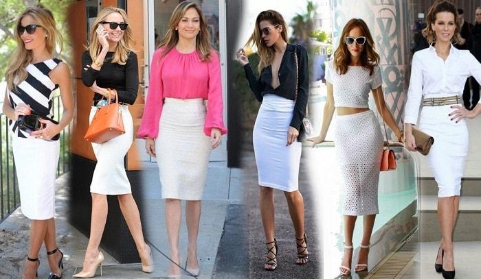 девушки в белых юбках фото
