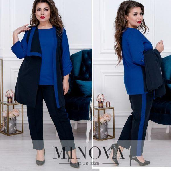 Костюм-тройка с блузой, брюками и жилеткой