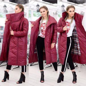 длинная женская осенняя куртка