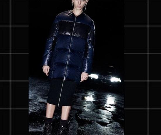 девушка в куртке и юбке карандаш