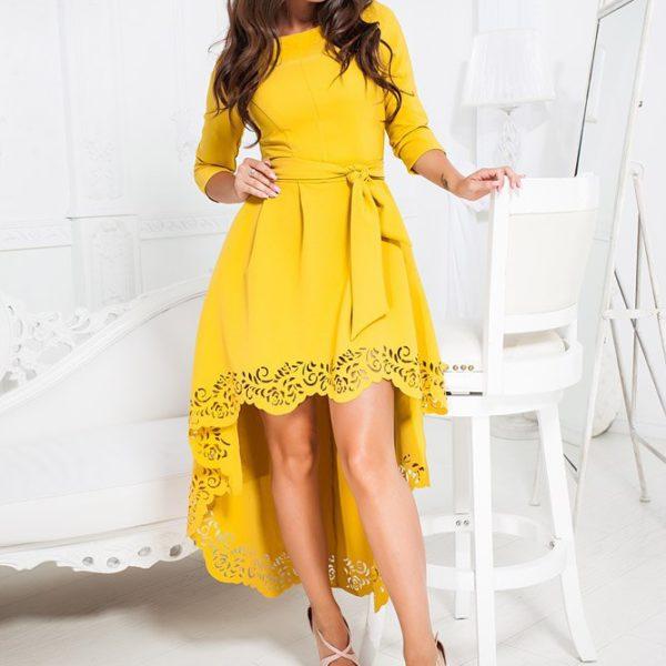 желтое праздничное платье фото