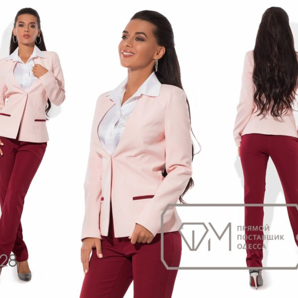 розовый пиджак с брюками