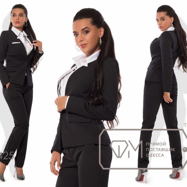 черный костюм для офиса