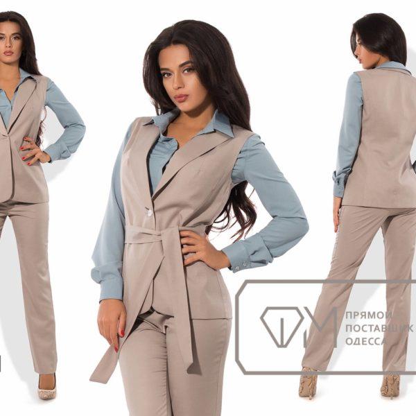 фото деловой костюм тройка женский большие размеры