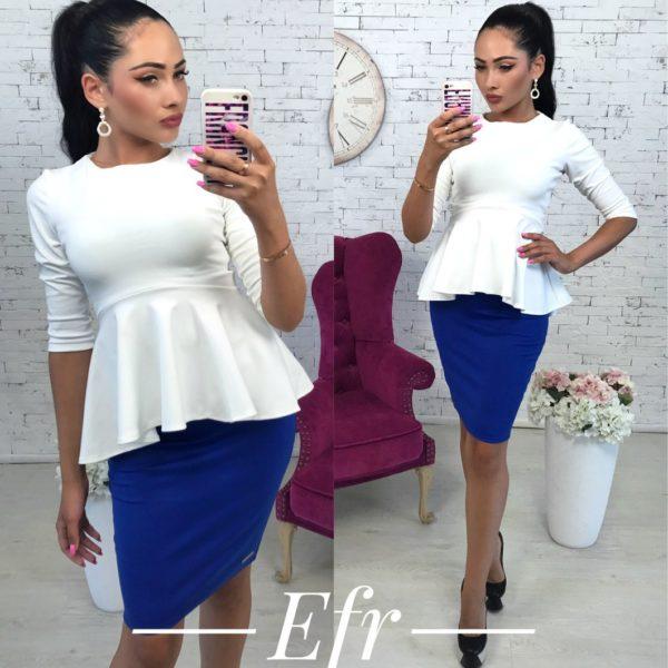 синяя мини юбка