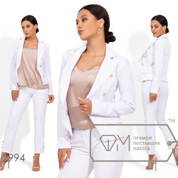 белый костюм с пиджаком