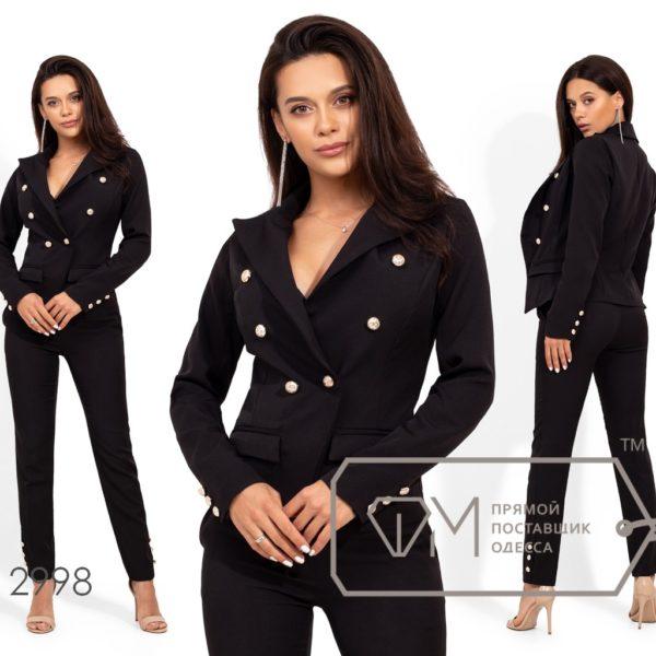 черный костюм с пиджаком