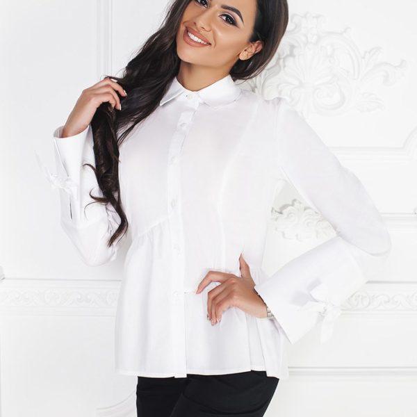 76a52b024cb Стильная белая рубашка женская купить в интернет магазине Самая МоднаЯ