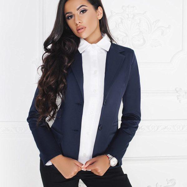 пиджак женский темно синий