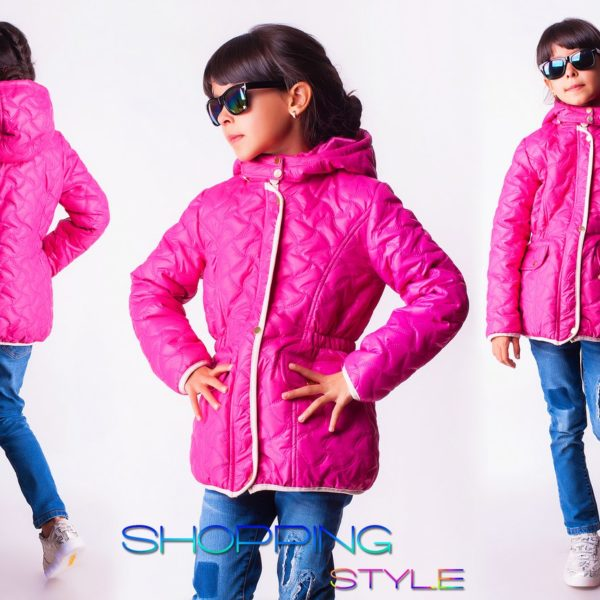 розовая детская куртка