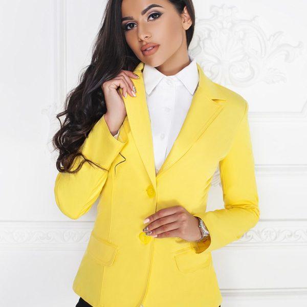 пиджак женский желтый