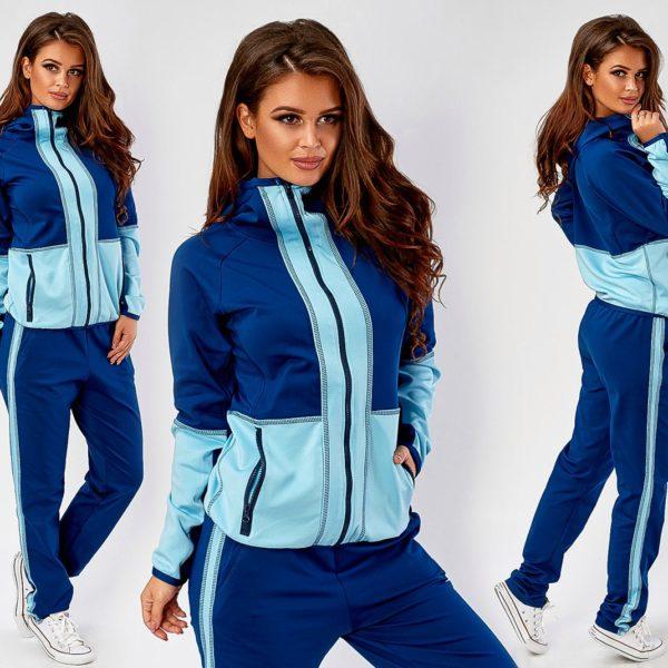 синий спортивный костюм
