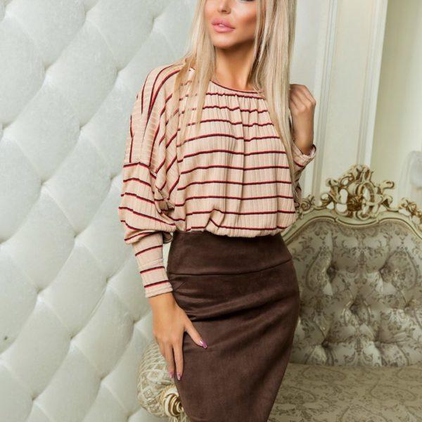 замшевая юбка с кофтой