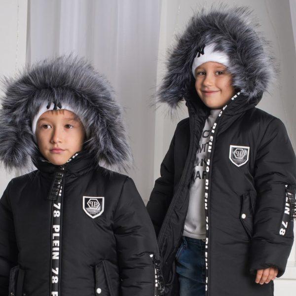 черная детская куртка