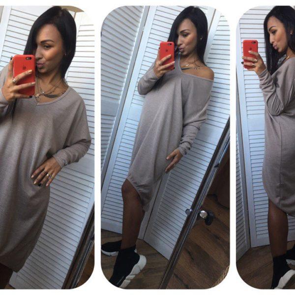Свободное платье из ангоры