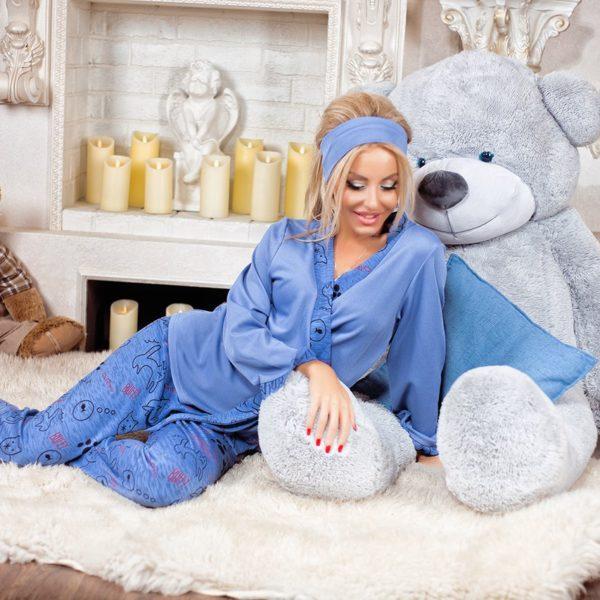 синяя женская пижама