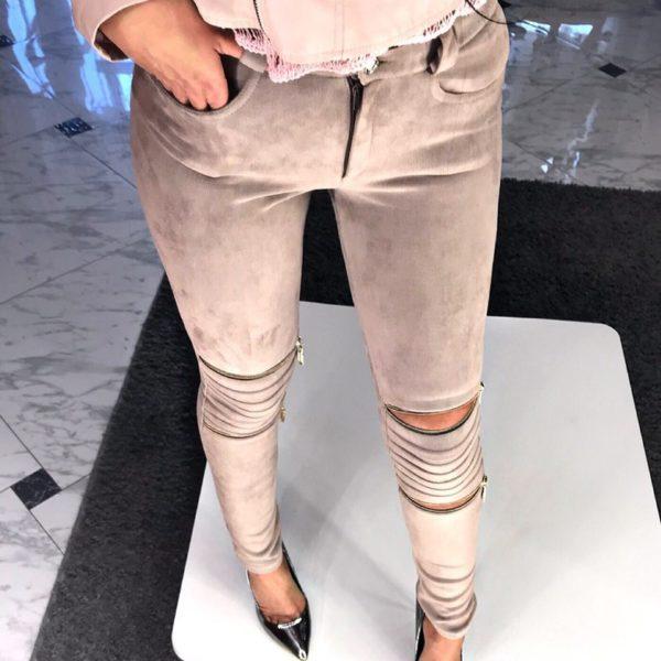 брюки с замками на коленях