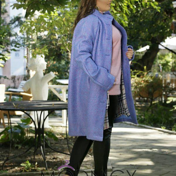голубое пальто на полных