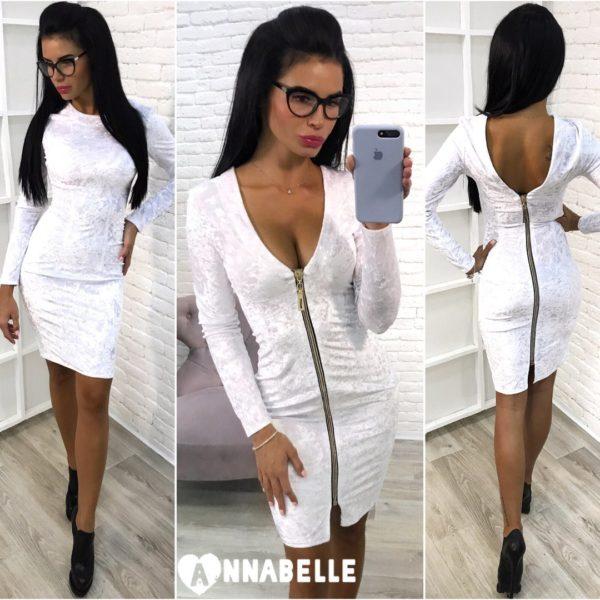 белое бархатное платье