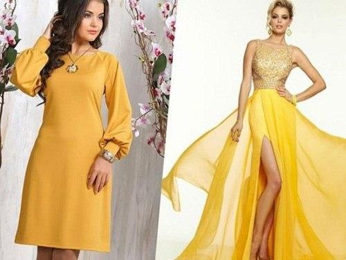 желтые платья на девушках