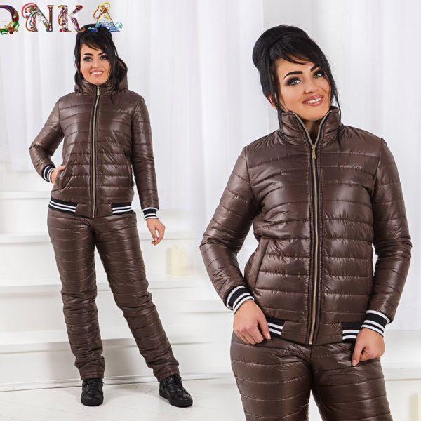 Теплые женские штаны с курткой большие размеры
