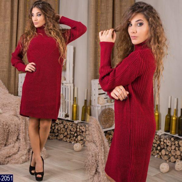 Вязанное платье туника
