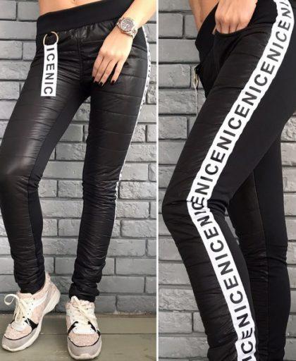 теплые черные брюки