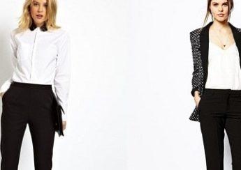 с чем носить женские черные брюки