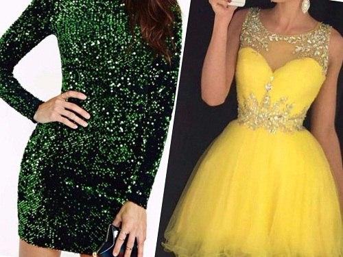 необычные праздничные платья на девушках