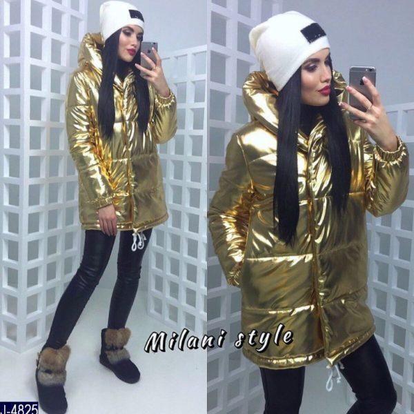 куртка золотого цвета