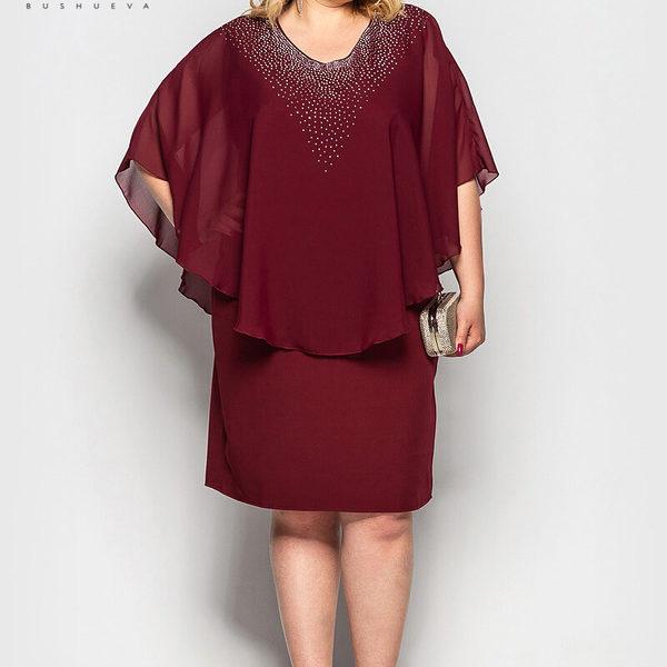 бордовое вечернее платье для женщин