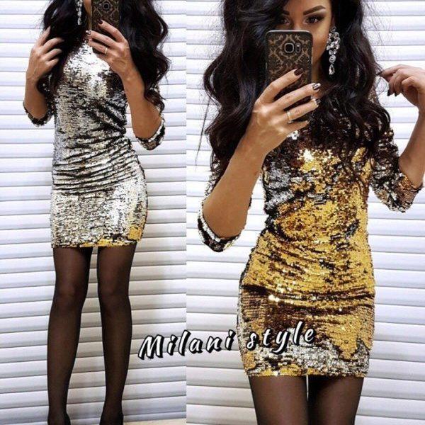 платье из двухстороней паетки