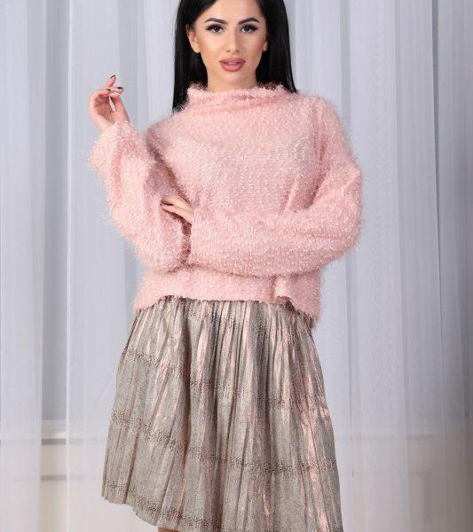 розовая кофта с юбкой