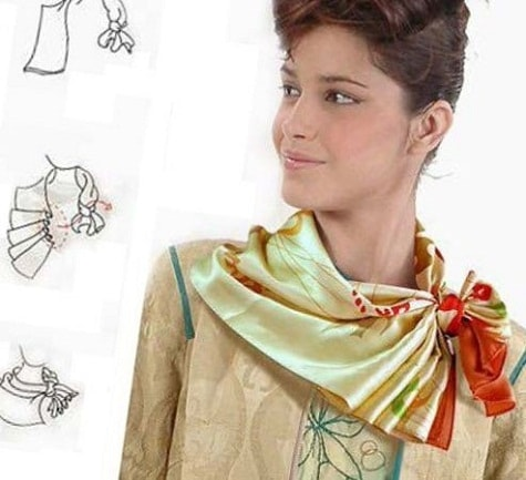 как носить красиво платок