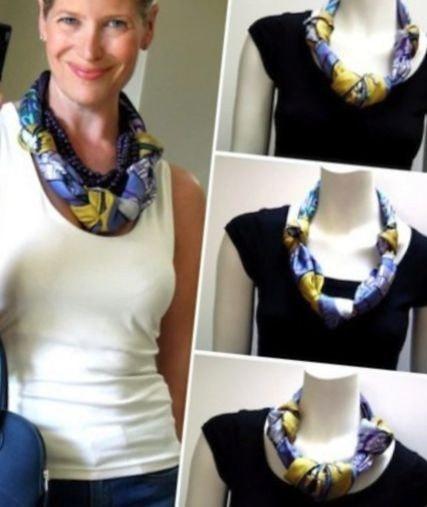 платок ожерелье на шее схема