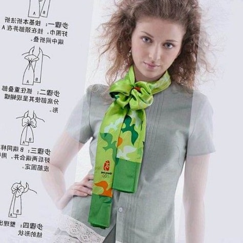 вариант завязывания шарфа