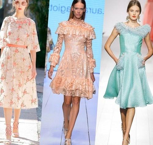 девушки в красивых платьях