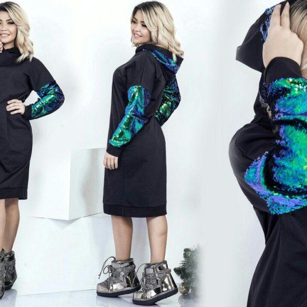 стильное платье с паетками